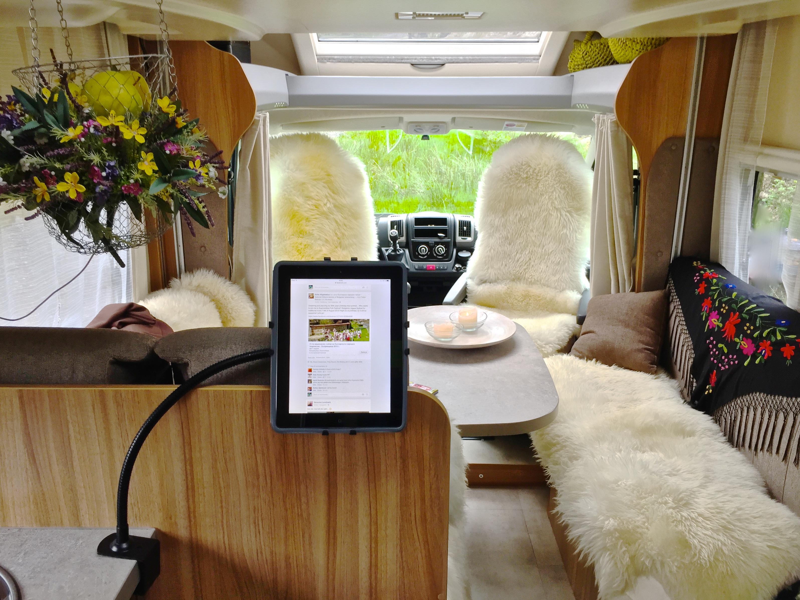 Ett kontor i husbilen