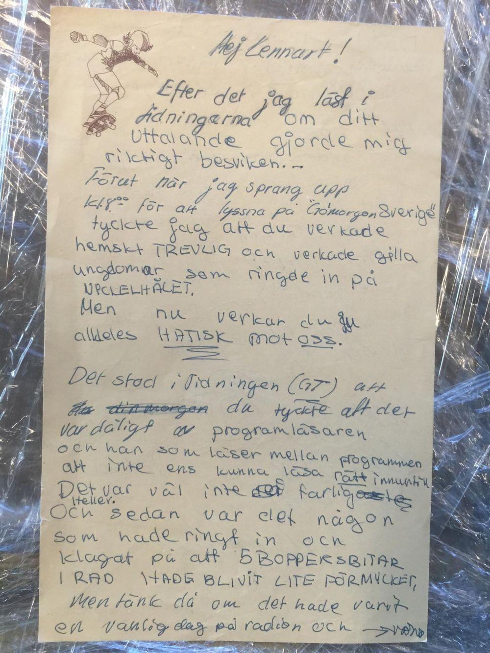 Argt brev från barn
