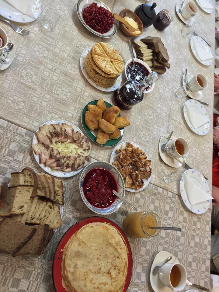 Traditionell måltid Lettland