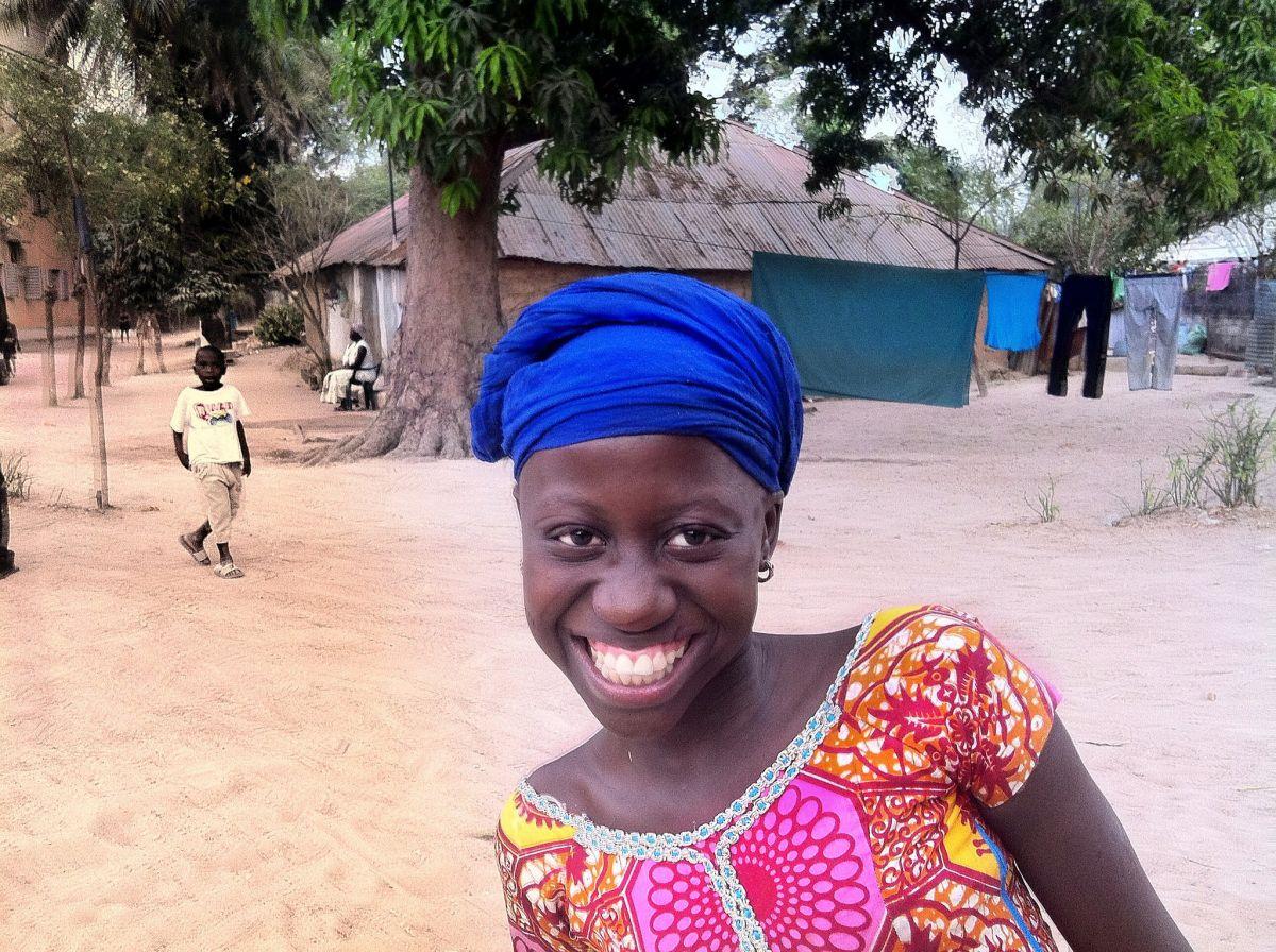 Girl in Casamance, photographer Malin Skinnar