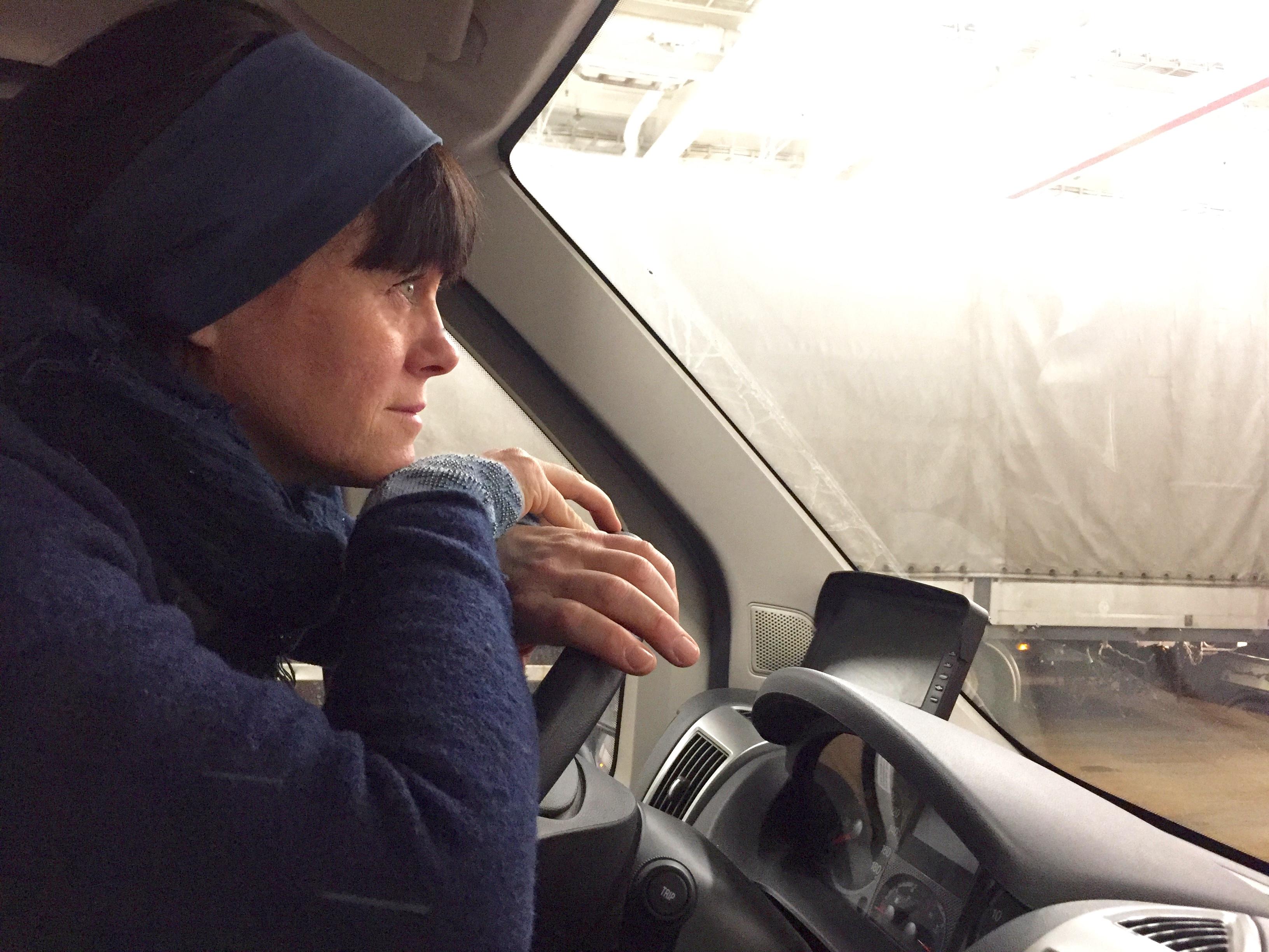Ombord på färjan med husbilen till Estlands skärgård