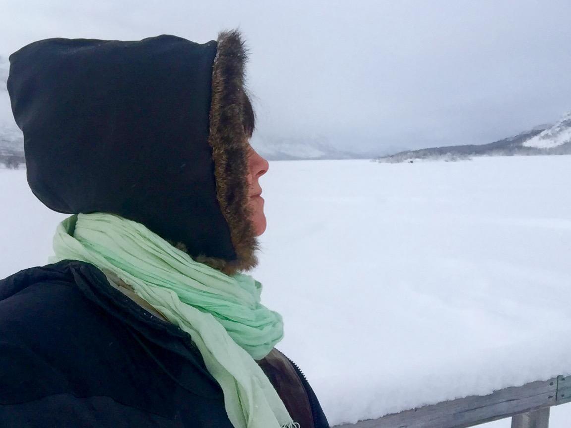 Still på isen spejande