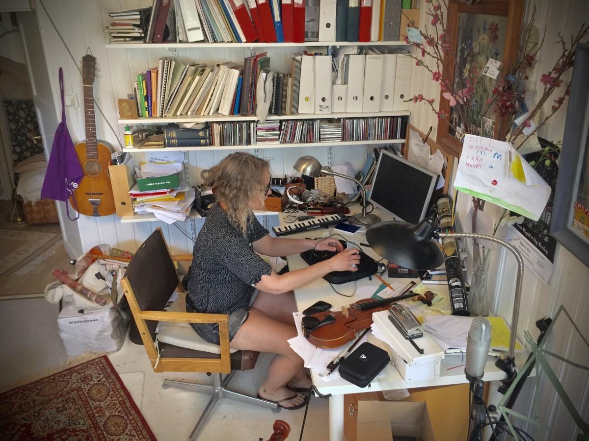 Huvudkontoret hos folkmusikerna Misgelds