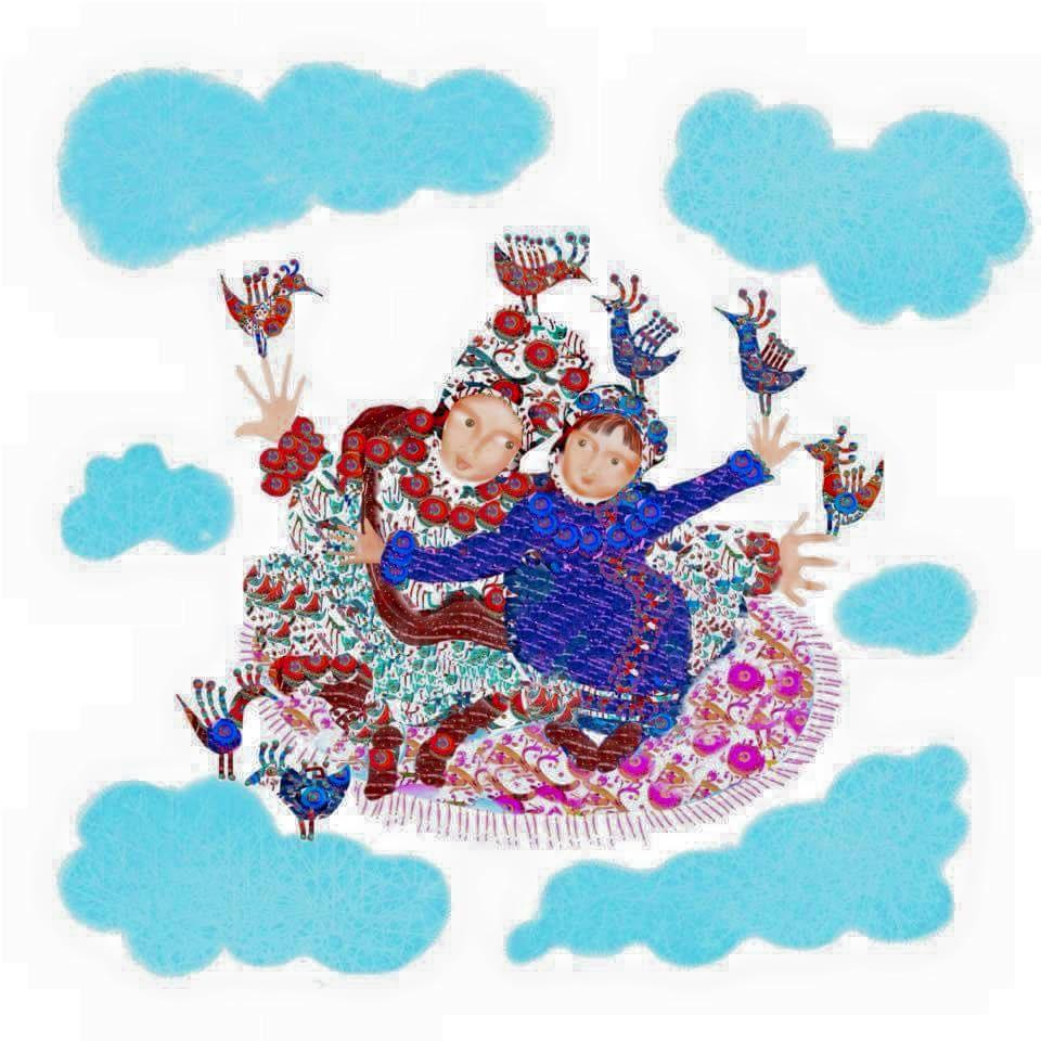 Tyssa Lulla CD av Tetra med illustrationer av Malin Skinnar till vaggviseboken.
