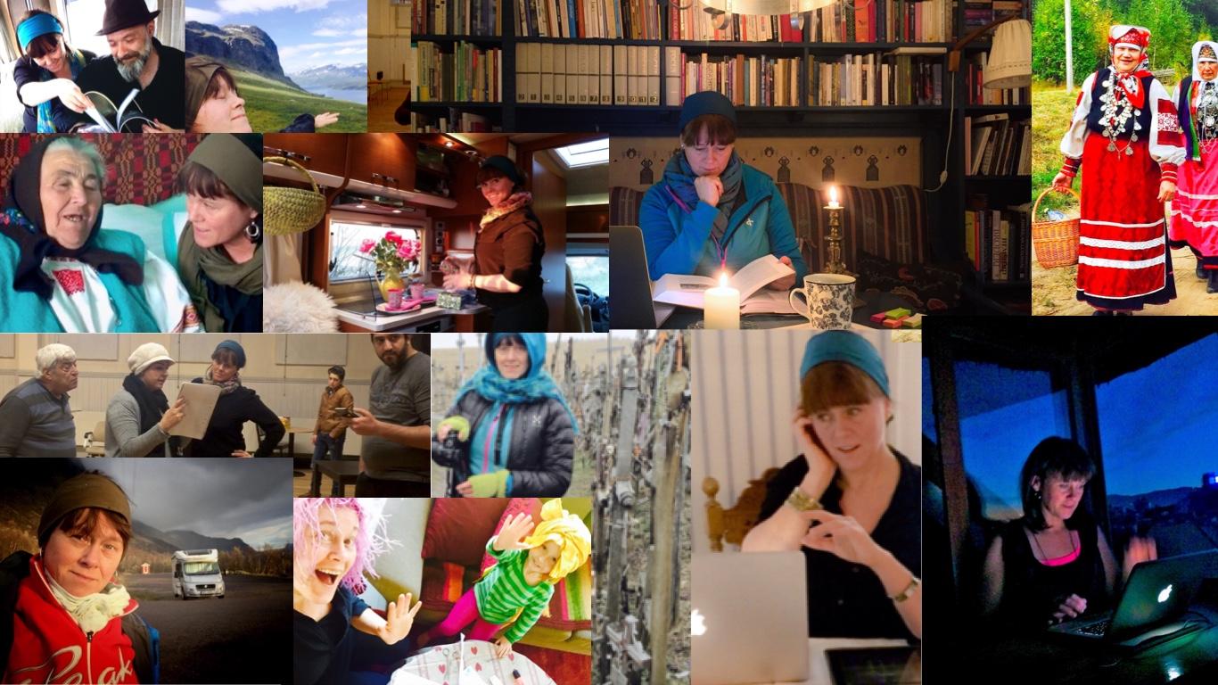 Malin Skinnar söker berättelser längs vägen via dem hon möter med husbilen. www.malinstoryteller.com