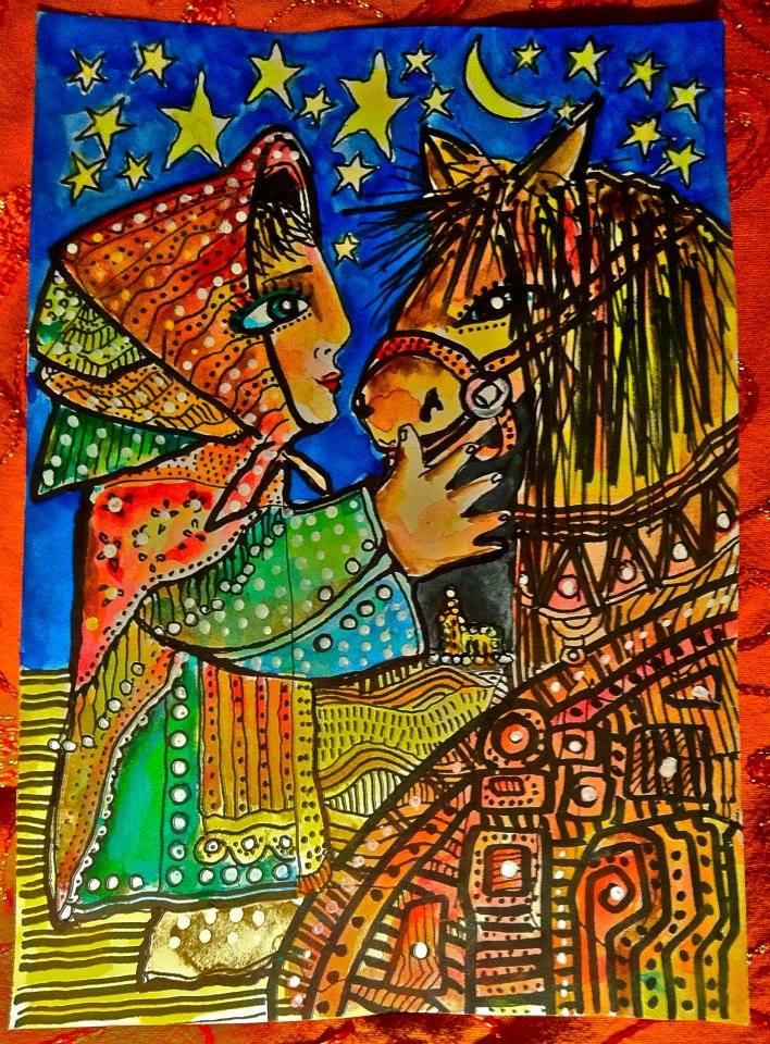 Berättelse ur pilgrimsleden om kvinnan med hästen