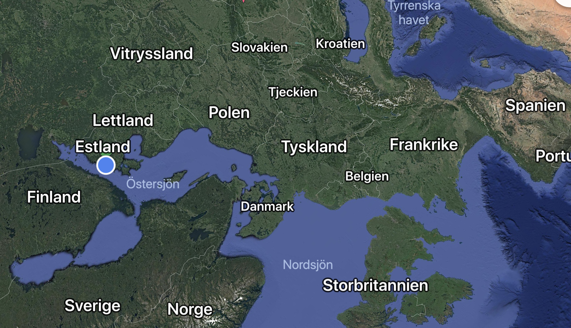 Googel map upp och ned ger nya tydliga perspektiv på var vi är utan politisk indelning