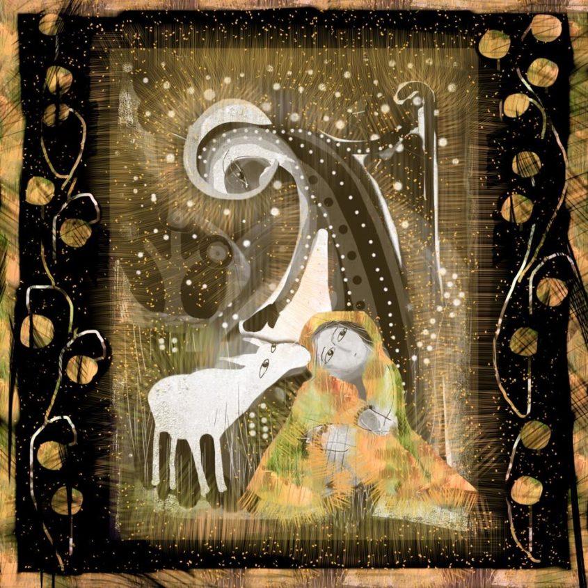 Herden skyddar och vägleder den minste. Djuret tröstar.