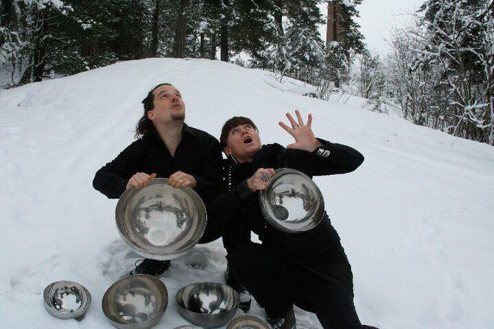 Storytellers Mikael Öberg and Malin Skinnar telling North Mythology