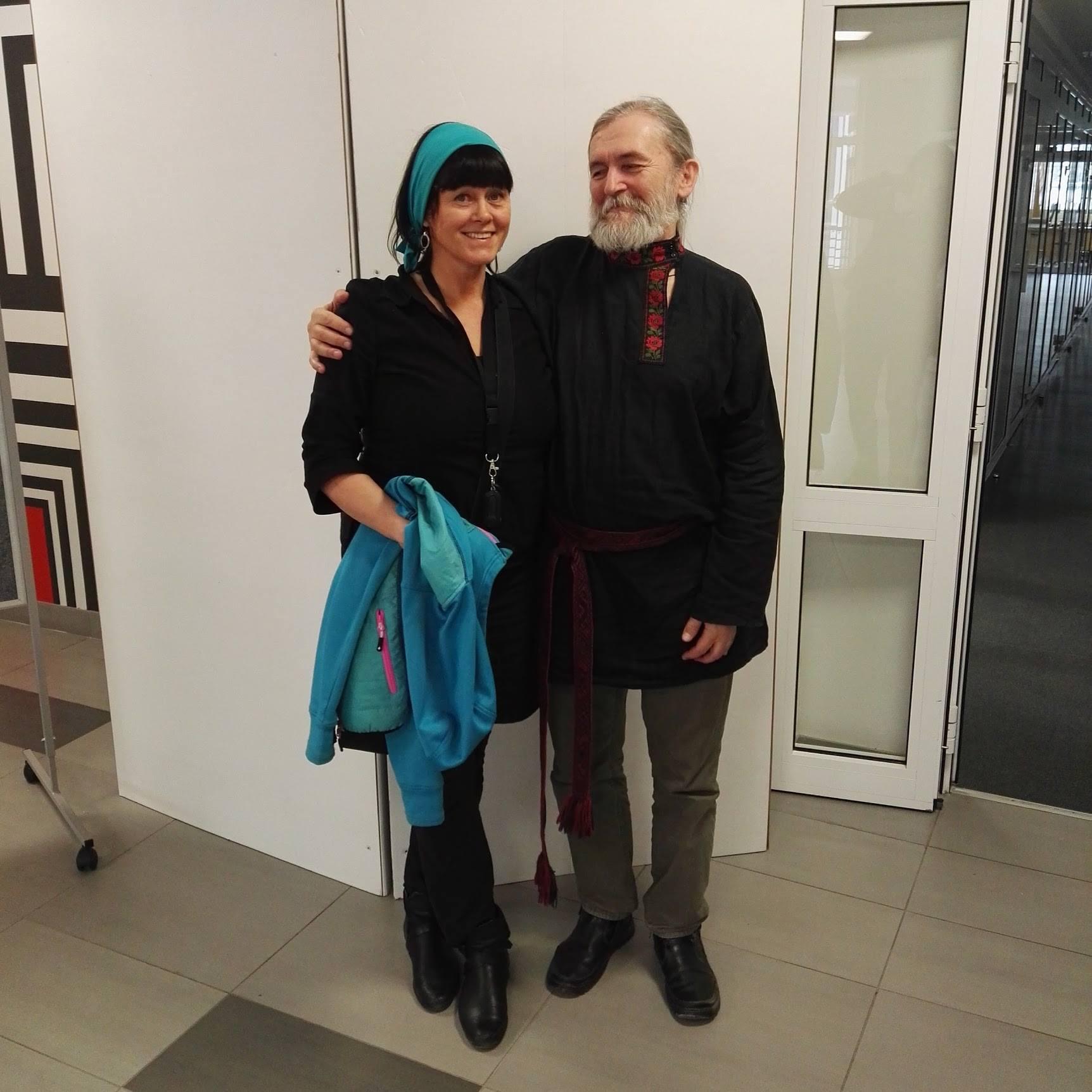 Malin Skinnar och Sergei Olenkin, Riga