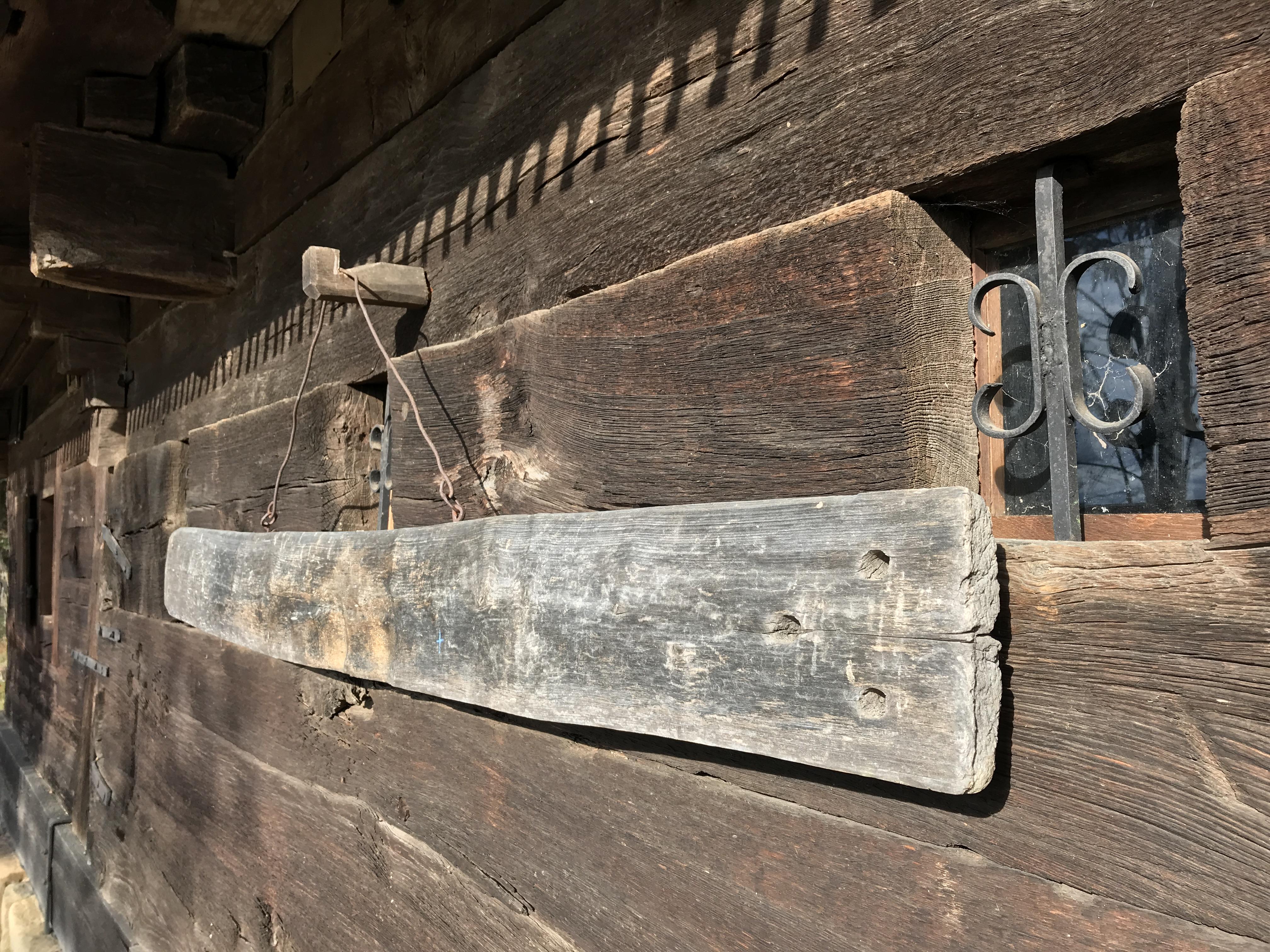 Ancient church instrument from Calinesti, Romania