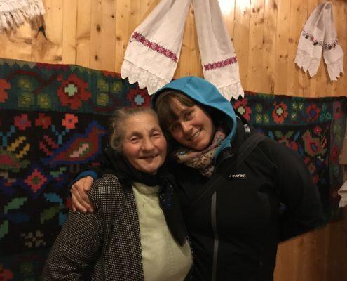 Mariuca Verdes Mother and Malin Skinnar , Calinesti, Romania