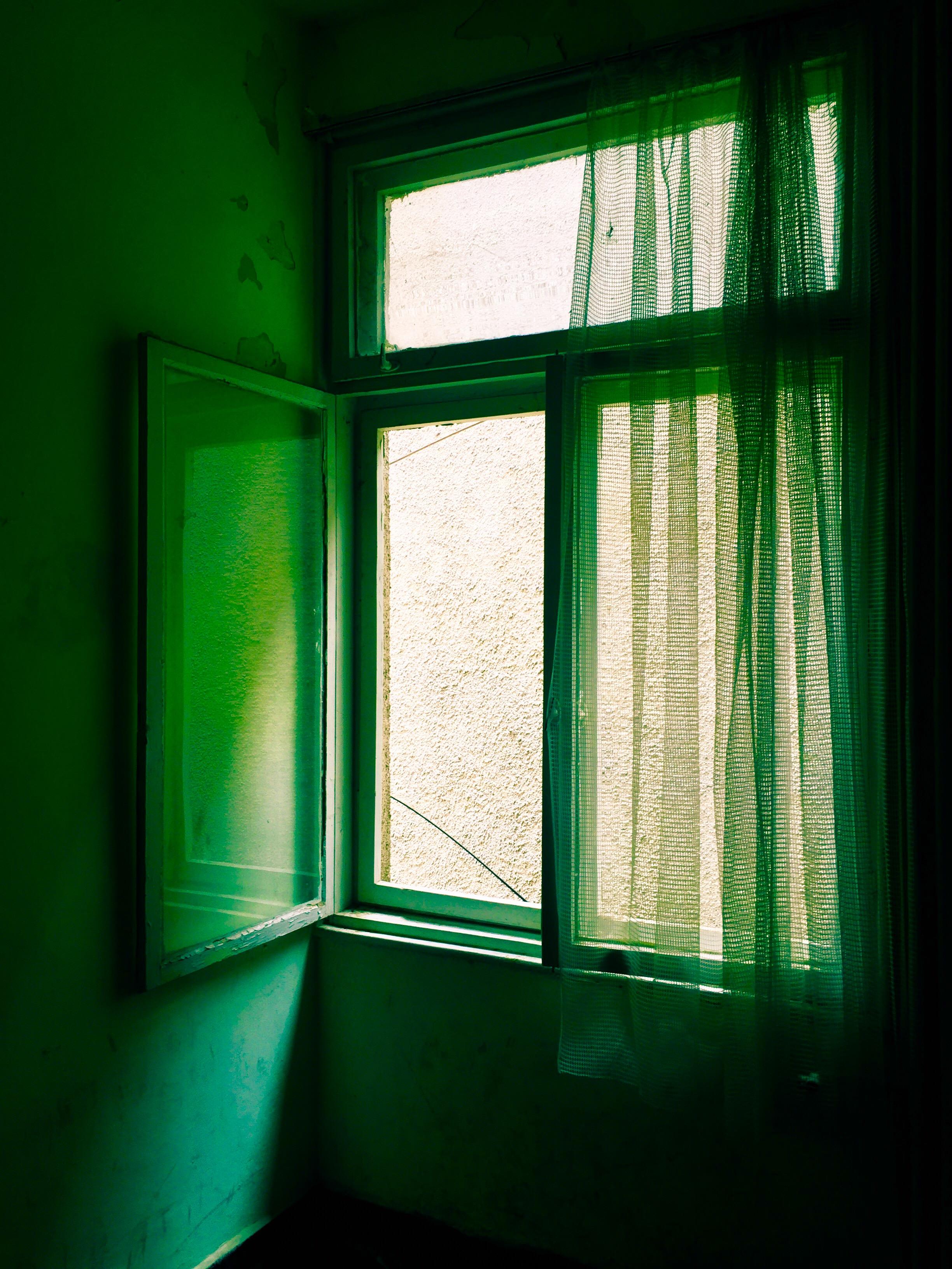 Fönstret står på glänt