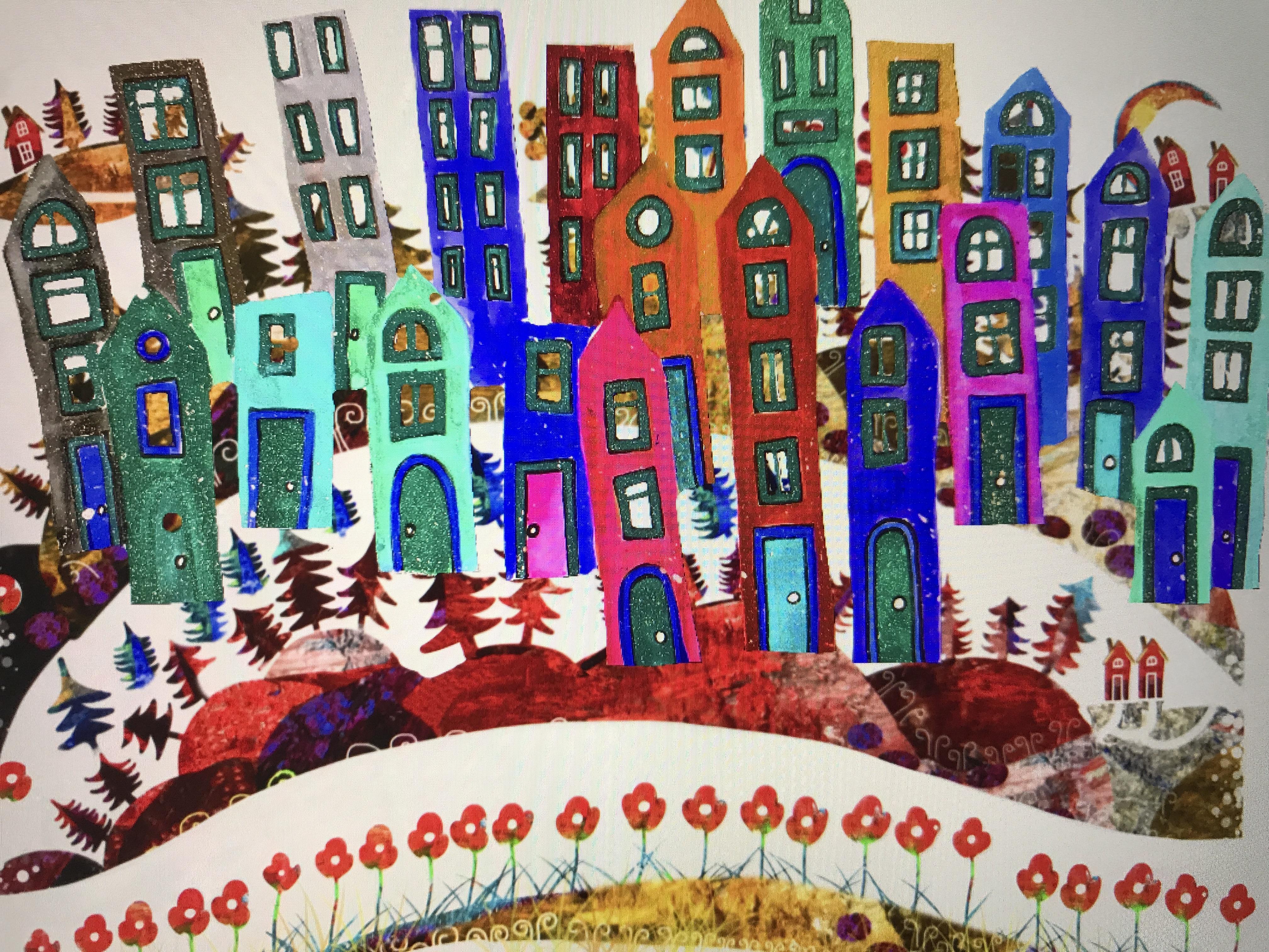 Illustration by Malin Skinnar - Houses