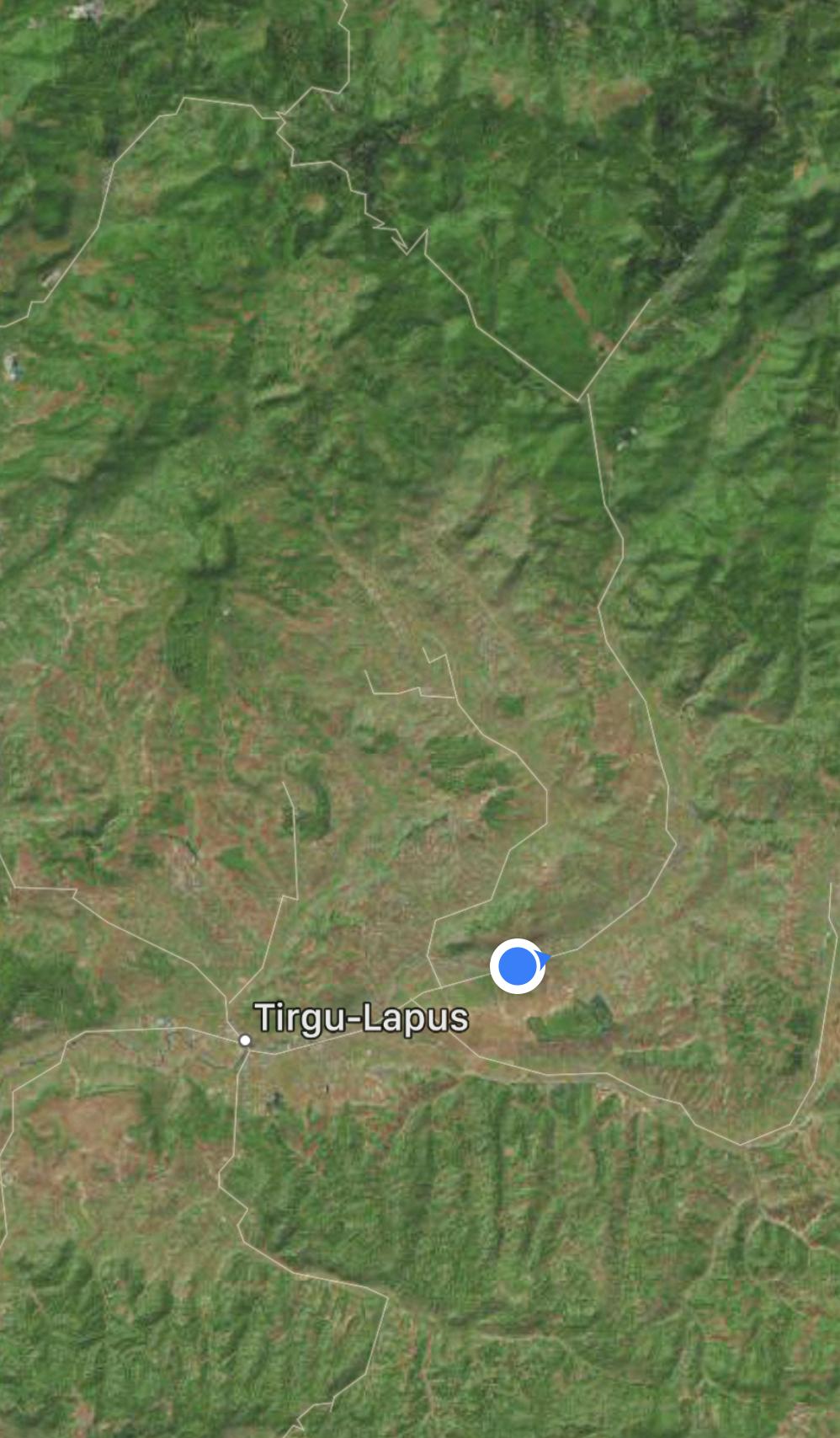 Map over Tara Lapusului, googel.