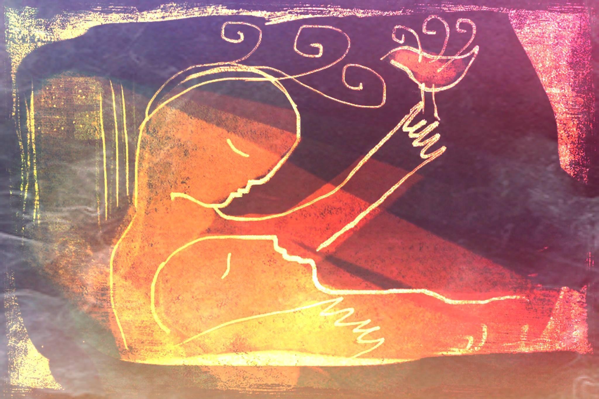 Rest in peace my love, illustration Malin Skinnar