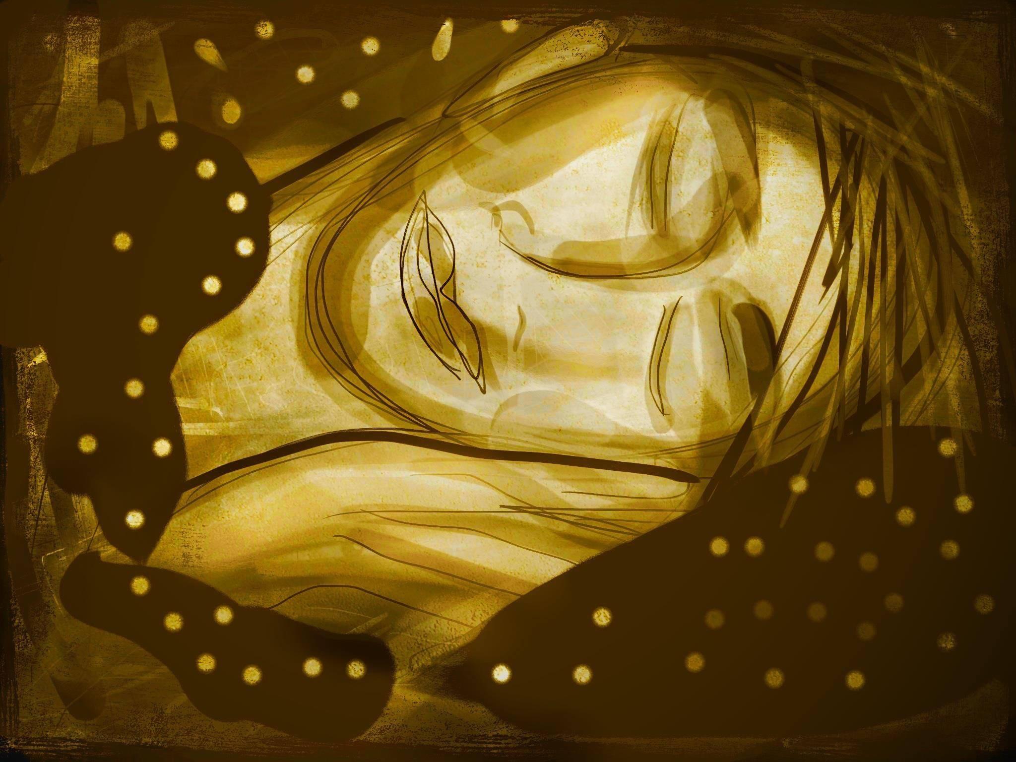 Sleeping, lllustration Malin Skinnar