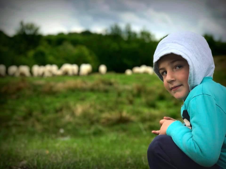 Roamanian farmer child