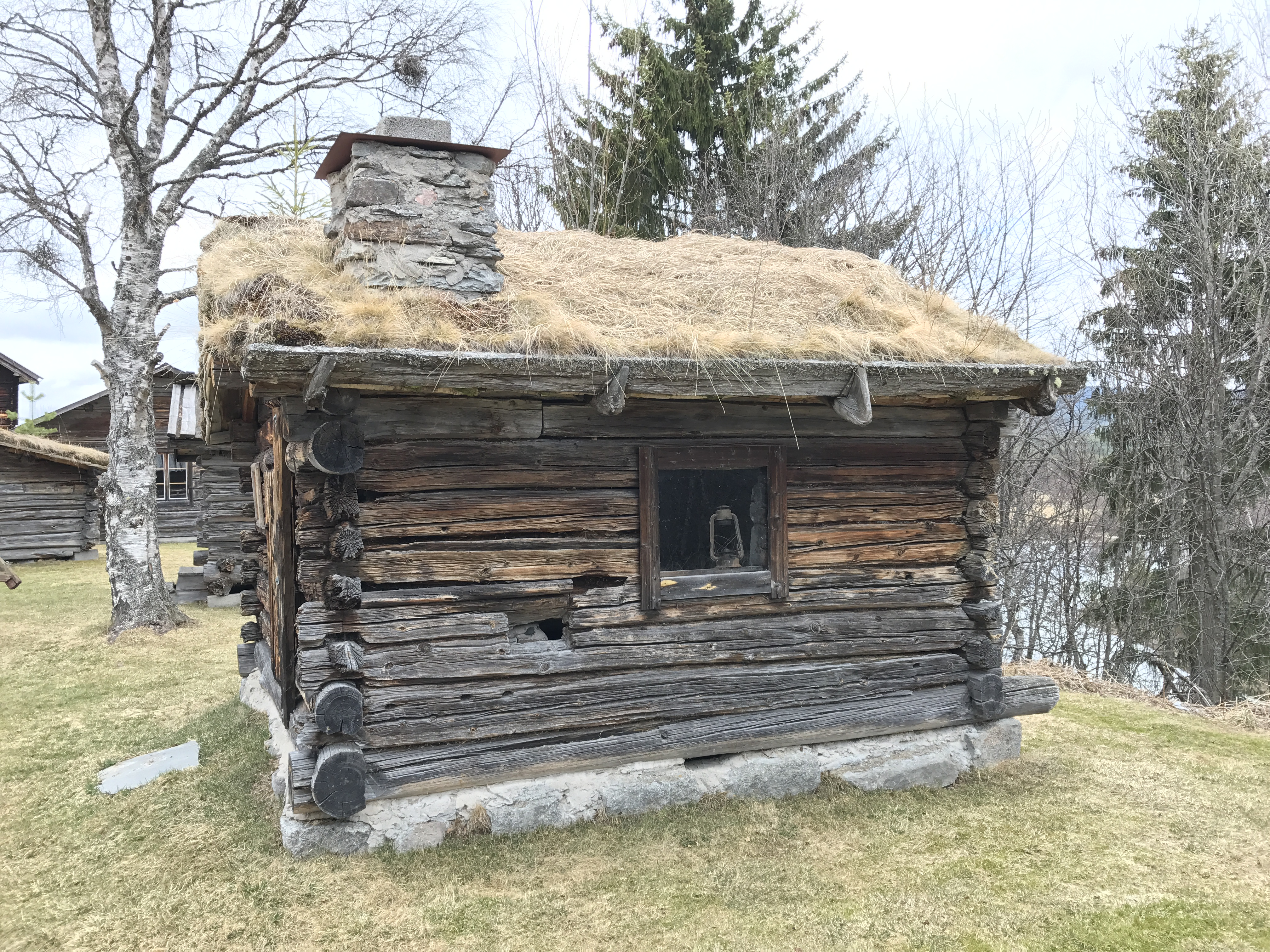 Traditional house of timber Sveg, Sweden
