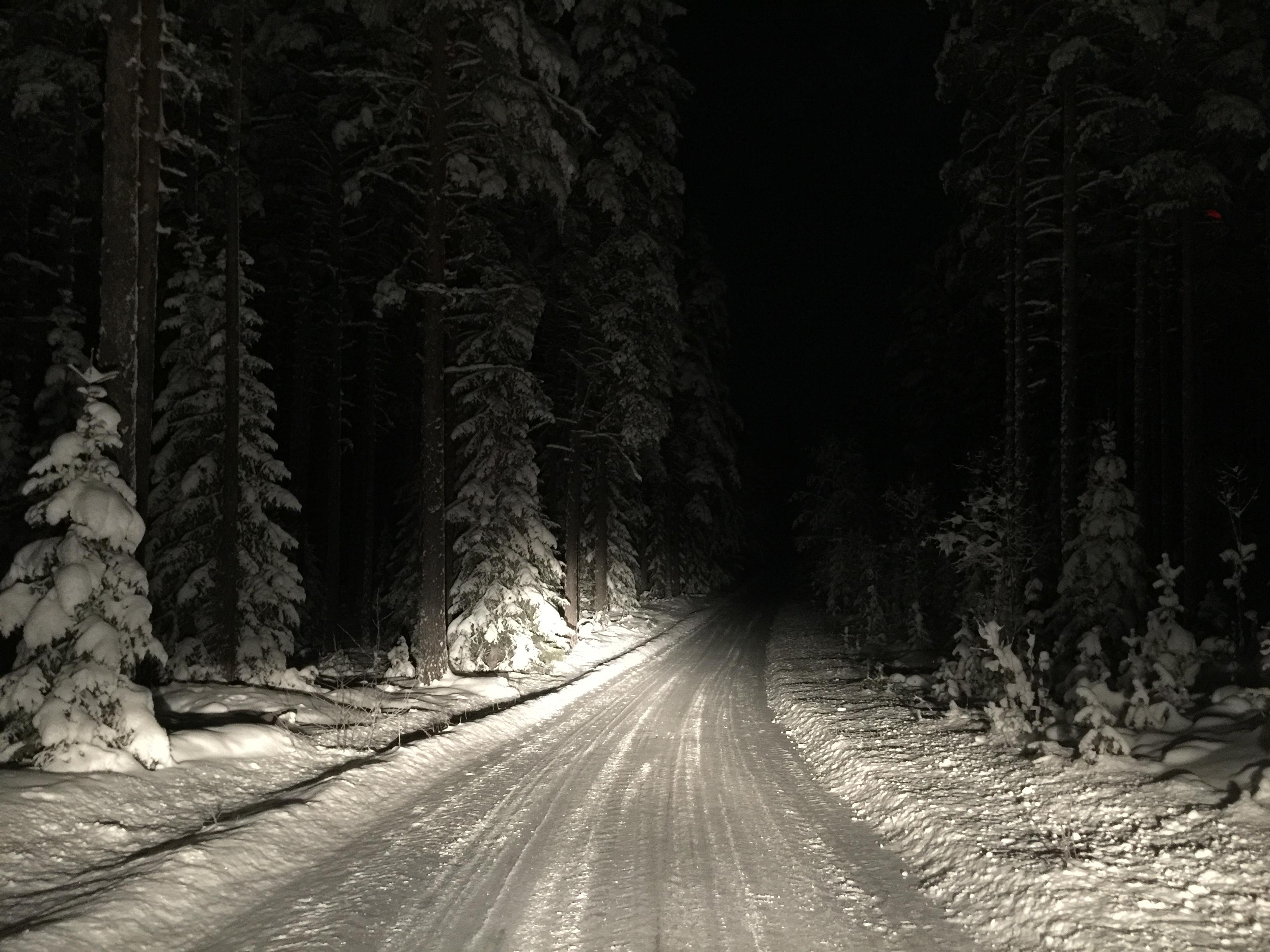 Winter road Sweden