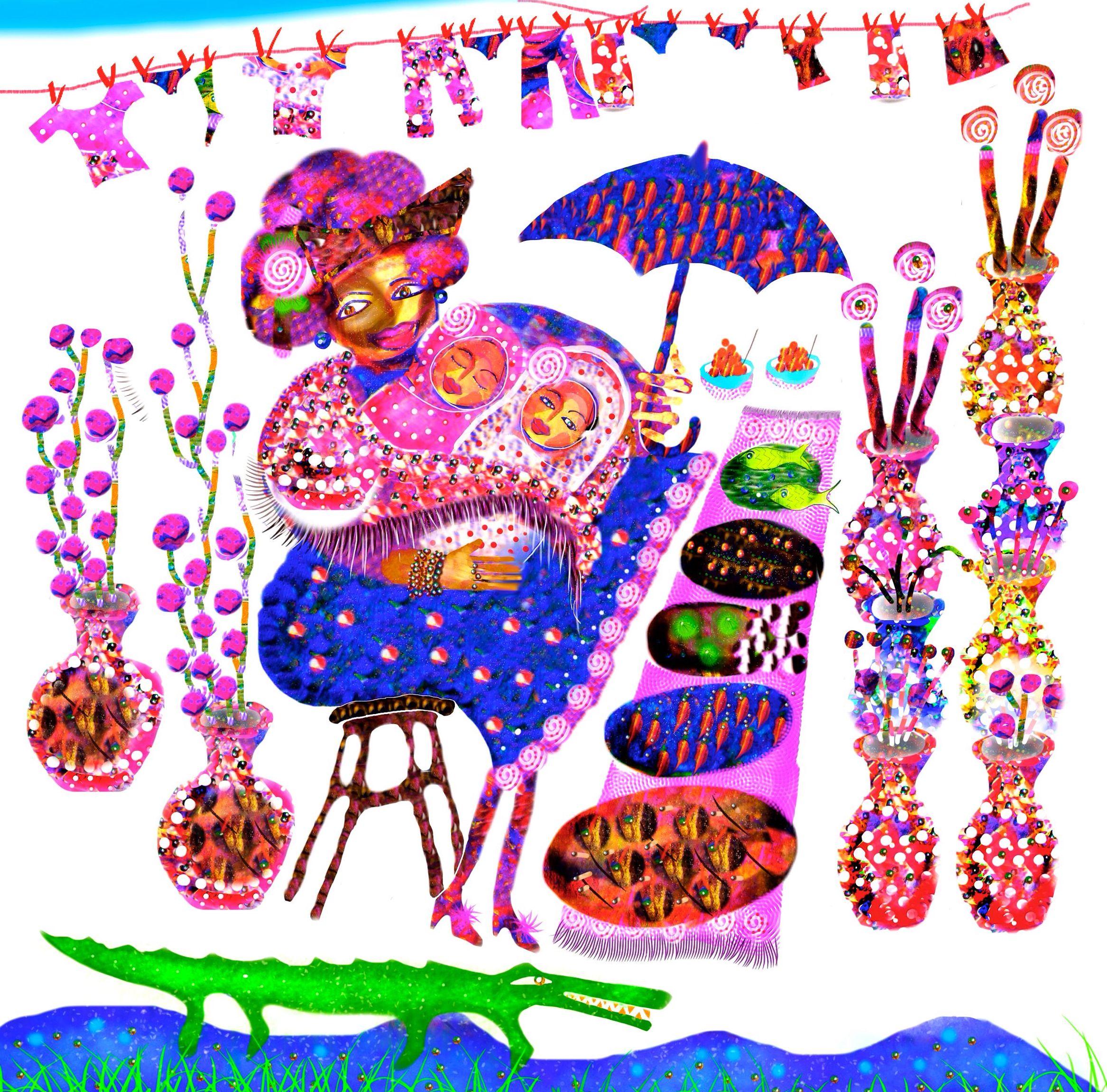 Lullabie from Senegal, illustrator Malin Skinnar