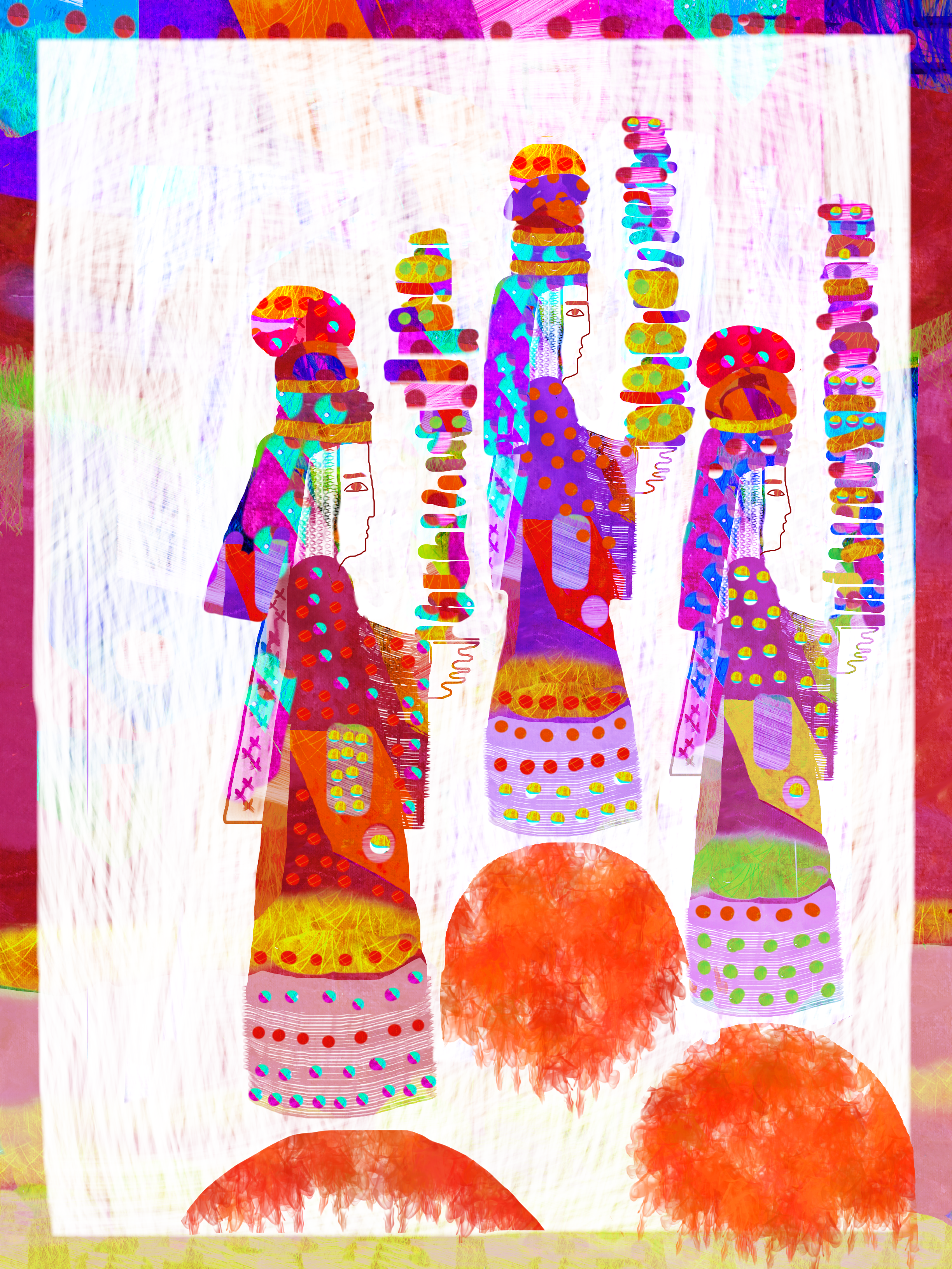 Three kings, illustration Malin Skinnar