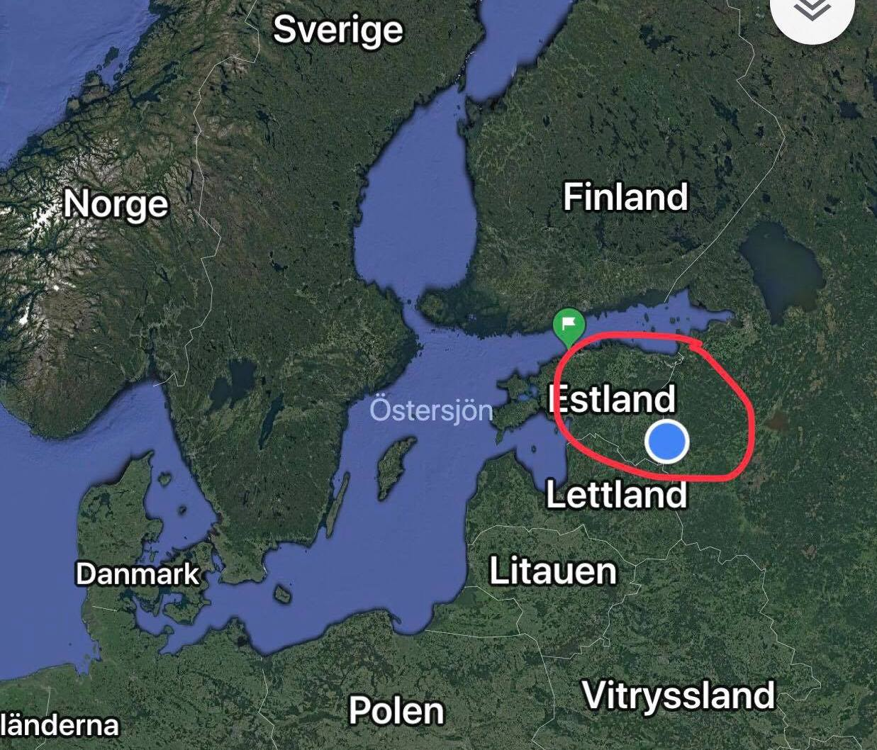 Estonia, Värska, Setomaa map