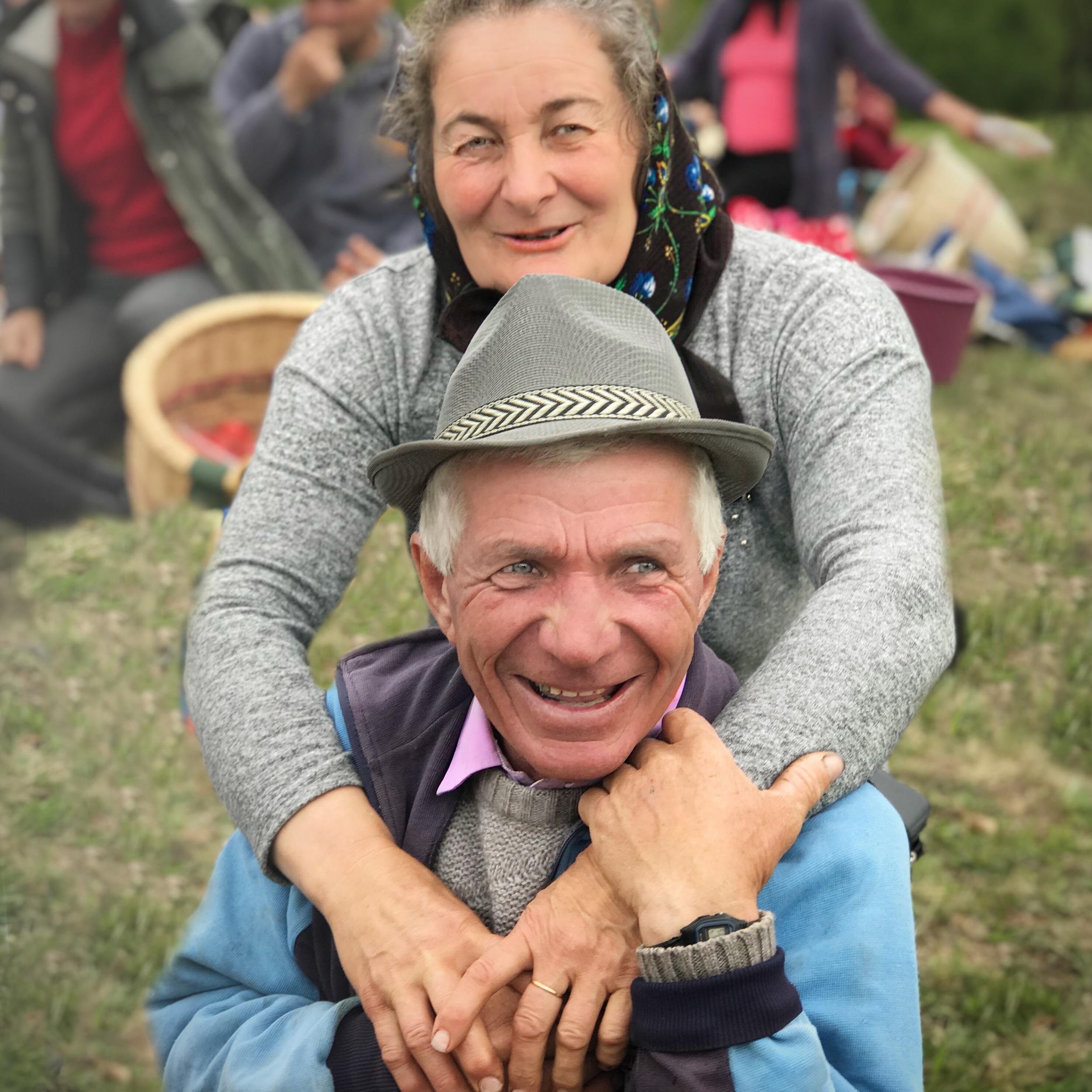 Maria & Todor Filip, #Cupseni, pärlmakerskans dotter med sin make kusken Todor.
