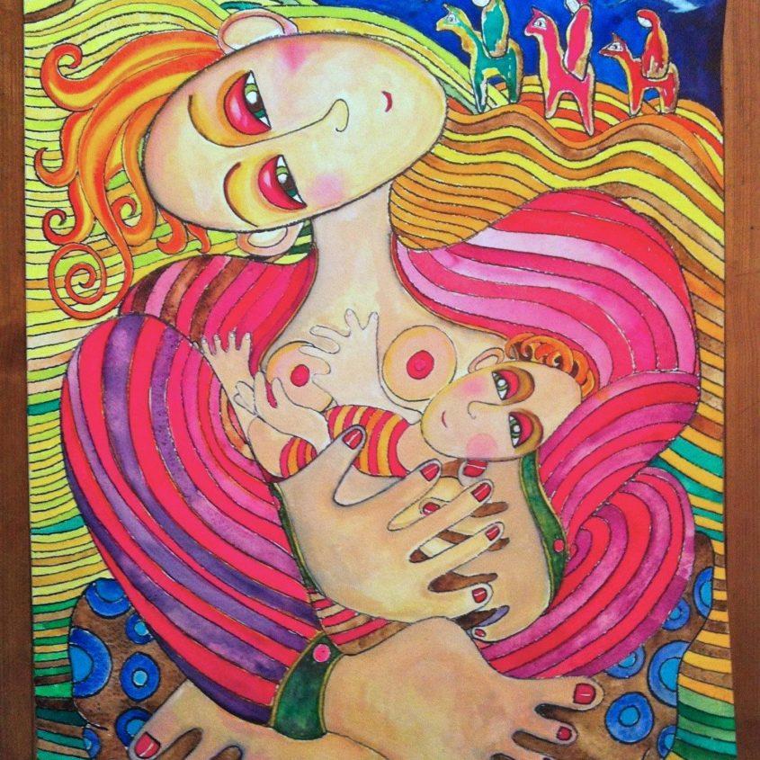 Lady Madonna, digigraphie by Malin Skinnar