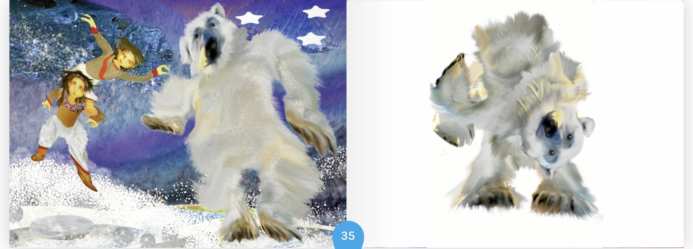 Dancing polar bear - Children´s book
