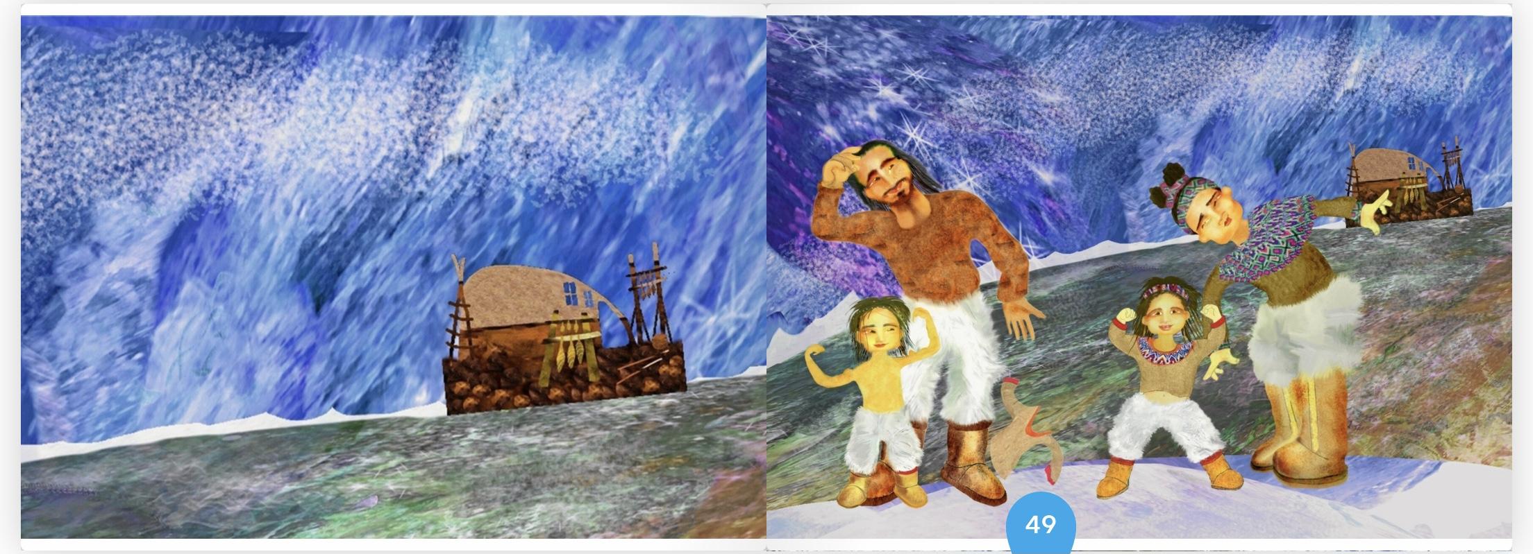 Children's book from Greenland by Malin Skinnar and Ingvar Karpsten